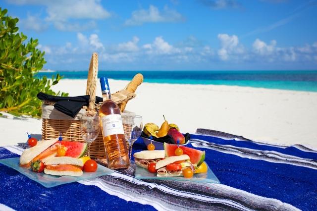 picnic na praia